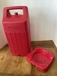 Coleman Hard Red Lantern Carry Case Compatible With 220 237 290 295 Exc. Cond $39.99