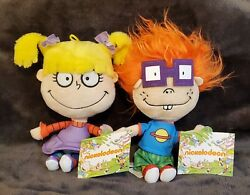 Rugrats 9quot; Plush Chuckie Angelica 2018 Viacom Stuffed Dolls Nickelodeon Toy NEW $18.00