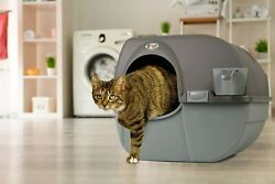 Cat Litter Box Self Cleaning Automatic Roll N Clean Removable Tray Waste Scoop $29.99