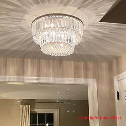 Modern Chandelier Crystal Glass LED Ceiling Light Pendant Hanging Lamp 16quot;x9quot; $69.00