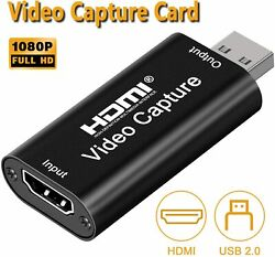 HDMI Video Capture Audio Video Capture Cards HDMI to USB Full HD 1080 USB 2.0 $15.99
