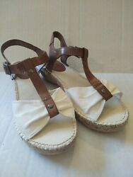 Cliffs By White Mountain Women's Sandals 7.5 Beige And Brown $15.99