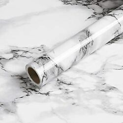 Marble Contact Paper Black White Grey Granite Wallpaper Peel and Stick 15.7x78.7 $11.40