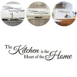 Wall Stickers Quotes The Kitchen is a Heart of the Home Art Decal Decoration DIY $7.44