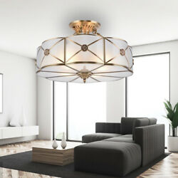 Stained Glass Chandelier Crafts Mission Victorian Ceiling Light Fixture 4 lamp $119.00