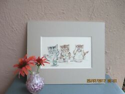 vintage illustration of kittens eating jam by Lillian E. Young 1924 $17.50