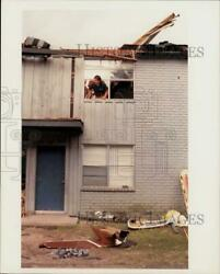 1991 Press Photo Emergency Workers Try to Free Pilot from Helicopter Crash Texa $12.88