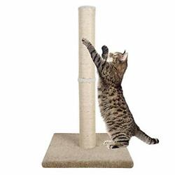 Dimaka 29quot; Tall Cat Scratching Post Claw Scratching Sisal Post with Carpet Ba... $33.99