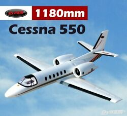 RC Airplane PNP Dynam Cessna 550 V2 1180mm Fixed Wing Jet Turbo Twin Motor 64mm $359.66