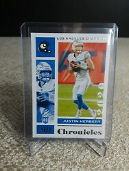 2020 Panini Chronicles Justin Herbert Bronze Base Rookie Card RC Chargers #53 $4.95