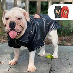 Lovelonglong Cool Dog Leather Jacket Warm Coats Dogs Assorted Sizes Colors $19.58