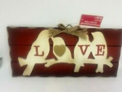 Rustic Love Birds Picture Country Wall Hanging Sign Plaque NEW $7.99