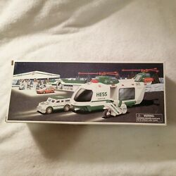 2001 Hess Truck Helicopter With Motorcycle And Cruiser New in Box $18.50