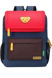 Willikiva Cute Bear Kids School Backpack Large NEW Red Coffee Royal Blue $26.75