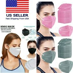 50 100 PCS Black White KN95 Protective 5 Layer Face Mask Disposable K N95 Marks $23.98