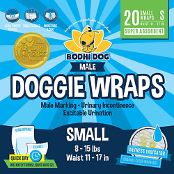 Disposable Dog Male Wraps 20 Premium Quality Adjustable Pet Diapers with and $20.35