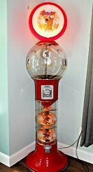 Giant 6 ft SCOOBY DOO Magic Spiral GUMBALL MACHINE Beaver Large LIGHTS UP