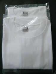 90#x27;s Vintage 2White JCPenney IRR Size L Made In USA 16oz $14.99