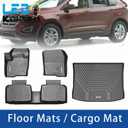 All Weather Front Floor Mats Rear Cargo Trunk Liner for 2015 2021 Ford Edge $149.99