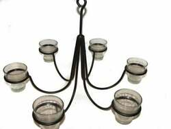 6 Arm Lite Candle Chandelier Hanging Candle Holder $39.99