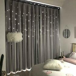 Unistar 2 Panels Stars Blackout Curtains for Bedroom Girls Kids Baby Window C... $55.87