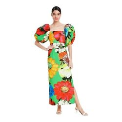 Green Floral Puff Sleeve Midi Dress Christopher John Rogers for Target $95.00