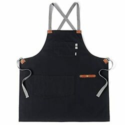 Professional Cooking Apron for BBQ Grill Chef Hobby Kitchen and Work Comforta... $27.63