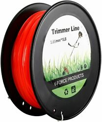 1LBS 0.065quot; Red Commercial String Trimmer Line Fits Square Shaped Nylon for Weed