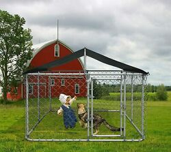 """118""""W Large Outdoor Dog Cage Kennel Playpen Pen Dog Fence Chicken Coop Run Cage"""