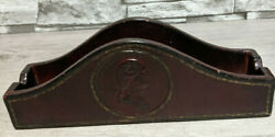 Baldwin Brass Mount Vernon 10.5quot;x3.5quot; Leather Mantle Desk Stationary Tray $49.95