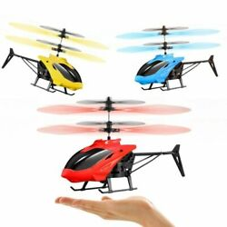 Mini RC Drone Helicopter Aircraft Suspension Induction Kids Toy Remote Control $9.49