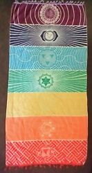 ***CHAKRA*** DOOR SIZED WALL TAPESTRY WALL HANGING FOR MEDITATION YOGA ETC... $9.95