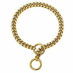 Gold Dog Chain Collar 10MMStainless Steel for Small Medium Large Dogs 10#x27;#x27; $14.87