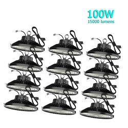 12Pack 100 Watts UFO Led High Bay Lights 100W Led Commercial Lighting Fixtures