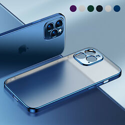 Matte Plating Case For iPhone 13 Pro Max 12 11 XS XR 8 7 Shockproof Clear Cover $8.56
