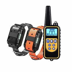 Dog Training Electric Collar Waterproof Rechargeable 2600ft Remote Dog Shock Co $77.68