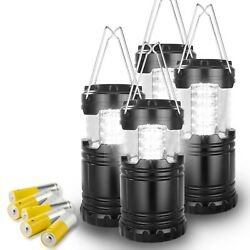4 Pack LED COB Ultra Bright Collapsible Portable Camping Lantern WITH BATTERY $19.99