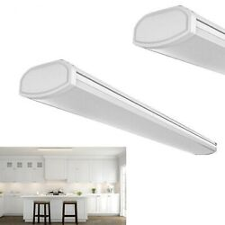 Commercial Electric Low Profile 4 ft. LED White Wraparound Ceiling Light 4000K