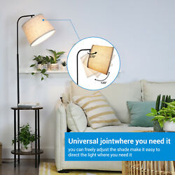 DEWENWILS 62 inch Floor Lamp with Table Attached Nightstand with Built in Lamp $87.99