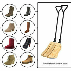 2 way Wooden Adjustable Boot Shoes Stretcher Expander Mens Womens Size 39 42 $24.99