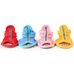 Hot Summer Pet Dog Boots Puppy Shoes Protective Anti Slip Apparel for Small Dog $7.31