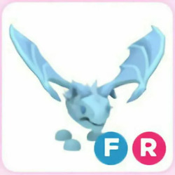 FR Frost Dragon Adopt Me Fly Ride Fast Delivery $22.99