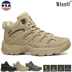 Men#x27;s Ankle Boots Backpacking Hiking Shoes Waterproof Army Military Work Workout $42.75