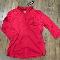 NWT OGIO Top 3 4 Sleeve Red size Large L Shirt $16.88