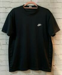 Nike Large Mens Black Polyester Short Sleeves Casual Comfort Pullover T Shirt $17.58