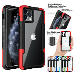 For iPhone 11 12 Pro Max XS XR 8 7 SE2 Hybrid Shockproof Bumper Clear Case Cover $7.78