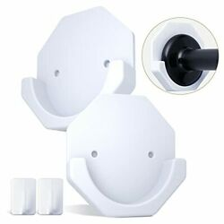 Adhesive Shower Curtain Rod Wall Mount Holder for Wall Bathroom 2PCS $9.19