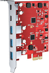 Inateck PCIe to USB Extension Card with 3 USB A Ports and 2 USB C Ports 8 Gbps P $52.67