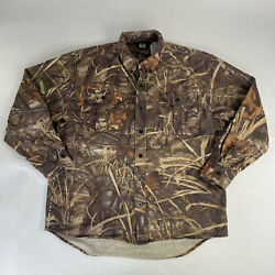Walls Hunting Shirt Large Mens Camouflage Used Button Up Long Sleeve Advantage $28.00