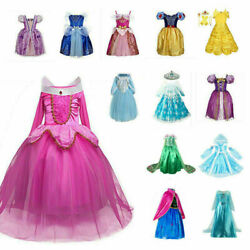 Kids Princess Dress Fancy Cosplay Costume Girls Dress Up Party Outfit 2 10 Y $21.99